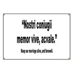 Latin Marriage Alive Quote Banner