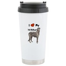I Love My Irish Wolfhound Travel Mug