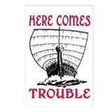 HERE COMES TROUBLE.. (viking) Postcards (Package o