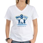 Yes on 8 Protect Marriage Women's V-Neck T-Shirt