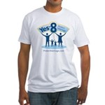 Yes on 8 Protect Marriage Fitted T-Shirt