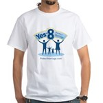 Yes on 8 Protect Marriage White T-Shirt