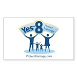 Yes on 8 Protect Marriage Rectangle Sticker 10 pk