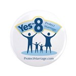 "Yes on 8 Protect Marriage 3.5"" Button (100 pa"