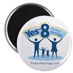 "Yes on 8 Protect Marriage 2.25"" Magnet (10 pa"