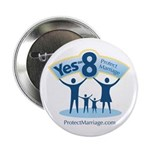 "Yes on 8 Protect Marriage 2.25"" Button (10 pa"