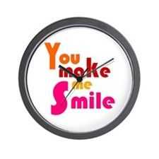 'You Make Me Smile' Wall Clock