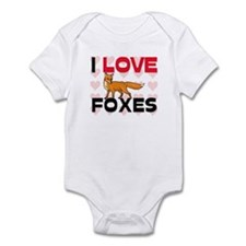 I Love Foxes Infant Bodysuit
