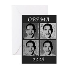 Black & white Obama Greeting Card