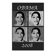 Black & white Obama Postcards (Package of 8)
