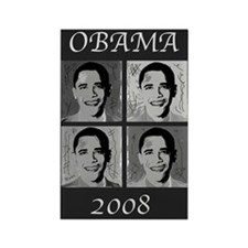 Black & white Obama Rectangle Magnet