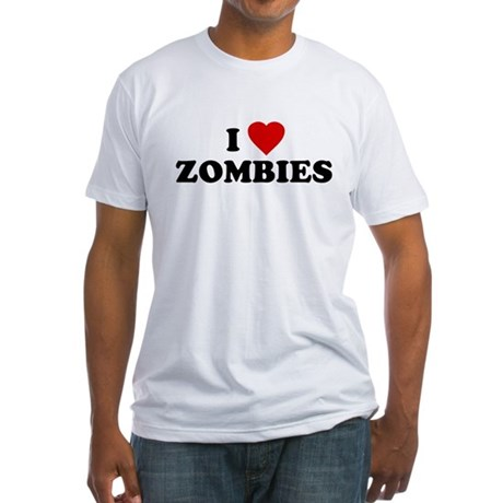 I Love [Heart] Zombies Fitted T-Shirt