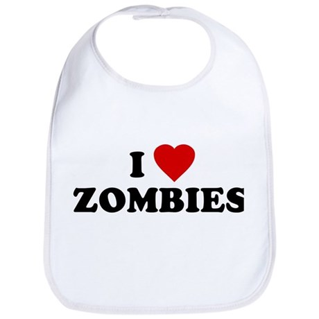 I Love [Heart] Zombies Bib