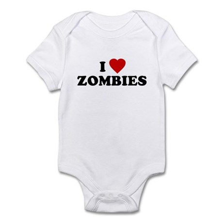 I Love [Heart] Zombies Infant Creeper