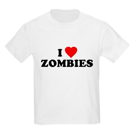 I Love [Heart] Zombies Kids T-Shirt