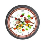Cardinal Couple Wall Clock