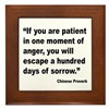 Patient Anger Sorrow Proverb Framed Tile