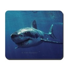 Great white shark bores in Mousepad