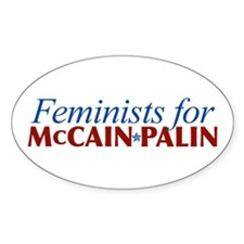 Feminists for McCain Palin Oval Decal