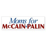 Moms for McCain Palin Bumper Bumper Sticker