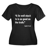 Lies and Truth English Proverb (Front) Women's Plu
