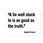 Lies and Truth English Proverb Postcards (Package