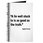 Lies and Truth English Proverb Journal