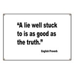 Lies and Truth English Proverb Banner