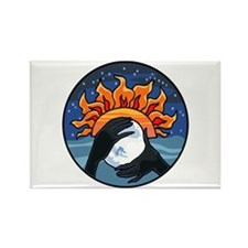 Full Moon Sunset Rectangle Magnet (100 pack)