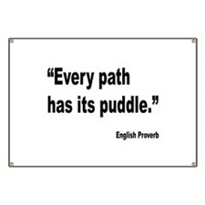 Every Path English Proverb Banner
