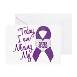 Missing My Sister-In-Law 1 PURPLE Greeting Cards (