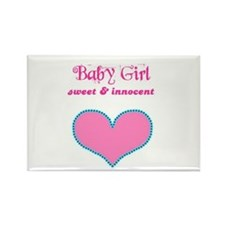 BABY GIRL Rectangle Magnet