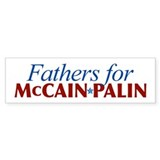 Fathers for McCain Palin Bumper Bumper Sticker