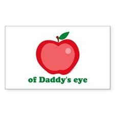 Apple of Daddy's Eye Rectangle Decal