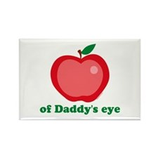Apple of Daddy's Eye Rectangle Magnet