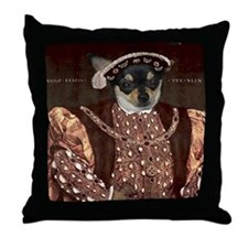 Chihuahua HENRY VIII Throw Pillow
