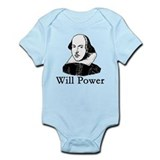 William Shakespeare WILL POWER Infant Bodysuit