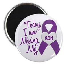 Missing My Son 1 PURPLE Magnet