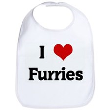 I Love Furries Bib