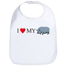 I heart my pot bellied pig Bib
