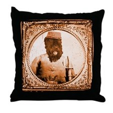 Black Russian BUBBA Throw Pillow