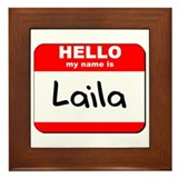 Hello my name is Laila Framed Tile
