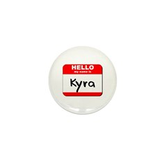 Hello my name is Kyra Mini Button (10 pack)