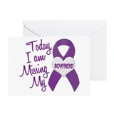 Missing My Boyfriend 1 PURPLE Greeting Card