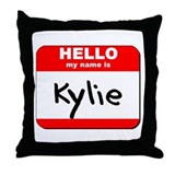 Hello my name is Kylie Throw Pillow