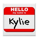 Hello my name is Kylie Tile Coaster