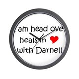 Cute I am head over heals in (heart) with darnell Wall Clock