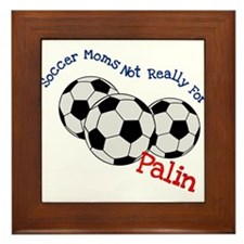 Soccer Moms Not Really For Palin Framed Tile