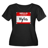 Hello my name is Kyla Women's Plus Size Scoop Neck