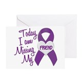 Missing My Friend 1 PURPLE Greeting Card